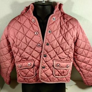 Baby Gap Quilted Jacket With Removable Hood